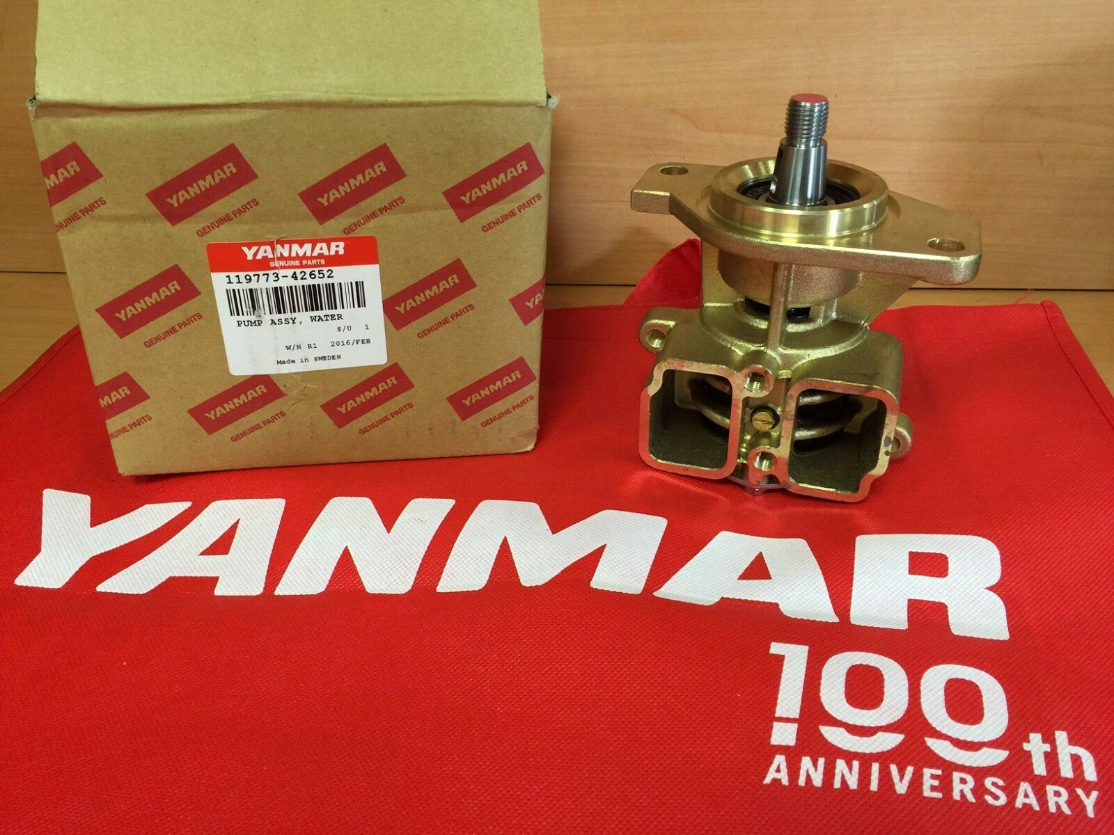 Yanmar 119773-42652 Raw Water Pump Assembly Genuine