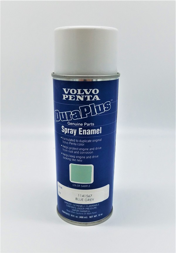 Volvo Penta Blue Grey Engine Touch-Up Spray Enamel Paint 1141567