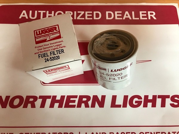 Northern lights 24-52020 Fuel Filter 4 Micron 130366020 130336020