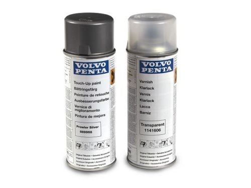 Volvo Penta Drive Touch-up Paint 2pack Silver + Clear Enamel DPH DPR SX-A 889968